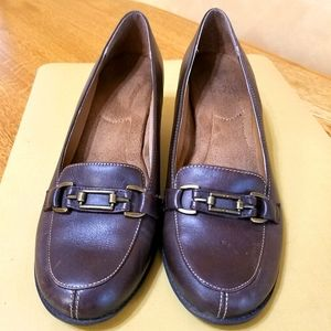 Aerology Brown Leather Loafers, sz 8.5